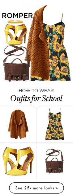 """""""Untitled #2066"""" by momoheart on Polyvore featuring Rock 'N Rose, Michael Antonio, DayToNight and romper"""