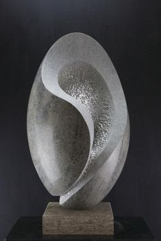 'In Balance (Modern Carved Stone statue)' by Pierre-Olivier Cappello Stone Sculpture, Art Sculpture, Pottery Sculpture, Sculptures, Art Pierre, Soapstone Carving, Urbane Kunst, Crystal Garden, Stone Statues