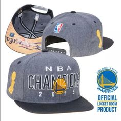 NWT Warriors 100% Auth Champs Adidas SnapBack hat 🏀Brand NEW Golden State  Warriors 100 89403492f13e