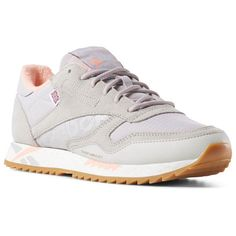 d0118e3b6b7657 Reebok Shoes Women s Classic Leather Ripple Altered in Grey Pink Chalk Size  5.5 - Retro Running Shoes