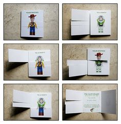 This is a great idea. I'm thinking any character on the outside of the card and my kid's picture on the inside of the card. Genius!