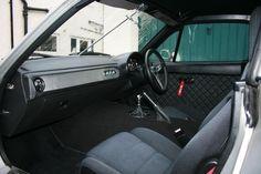 Custom DIY Miata interior. Leather wrap dash.