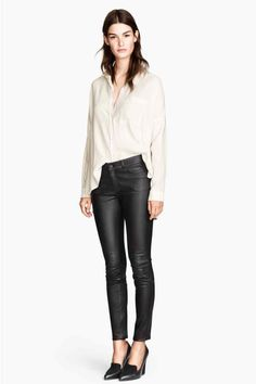 Leather trousers   H&M