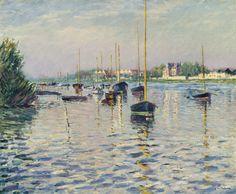 Gustave Caillebotte | Bateaux au Mouillage sur la Seine a Argenteuil 1892 | Sotheby's