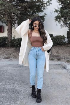 Casual College Outfits, Trendy Fall Outfits, Cute Comfy Outfits, Casual Winter Outfits, Winter Fashion Outfits, Simple Outfits, Pretty Outfits, Stylish Outfits, Spring School Outfits
