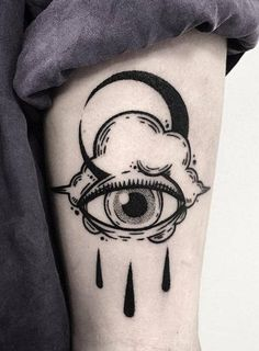 Bold illustrations Blackwork Tattoos - - Art - Tattoo Designs For Women Body Art Tattoos, New Tattoos, Small Tattoos, Tatoos, Upper Arm Tattoos, Cloud Tattoos, Fashion Tattoos, Line Art Tattoos, Watch Tattoos