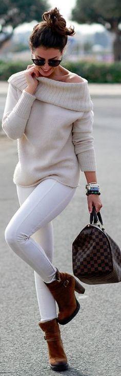 Winter Chic / Pants by Zara & Louis Vuitton bag.