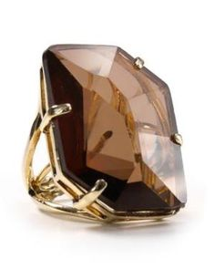Lydell NYC Ring - Smoky Topaz Ring Jewelry & Accessories - Jewelry - All Jewelry - Bloomingdale's Smokey Topaz, Smokey Quartz, Funky Jewelry, Jewelry Accessories, Brown Rings, Big Rings, Beige, Rings Online, Topaz Ring