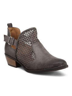 QUPID Sochi Perforated Buckle Booties $24.99