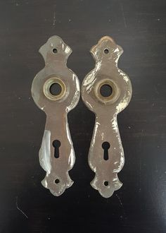 Art Deco Vintage Back Plates for Doorknobs 531242 by CharlestonHardwareCo on Etsy