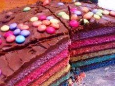 Rainbow cake Popo et Fanny - Recette de cuisine Marmiton : une recette