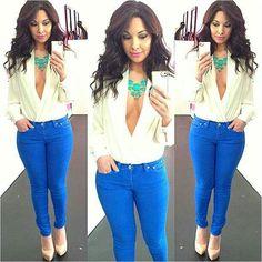bigchipz.com electric blue skinny jeans (18) #skinnyjeans