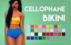 Poetry makes me cry: Cellophane Bikini (Solids) - 700 Followers Gift