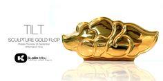 "TILT x K.Olin tribu - ""Gold Flop"" porcelain sculpture! #DesignerToyArtToy #France #Graffiti #KOlintribu #porcelain"