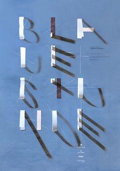光影的藝術 字體海報 | MyDesy 淘靈感