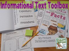 Everything you need to teach and use informational text in your classroom. Anchor charts, activities, graphic organizers, flip-flaps for interactive notebooks and a choice board with 8 projects.---Crockett's Classroom