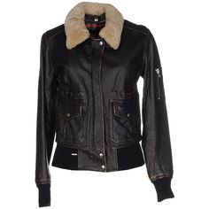 S.w.o.r.d. Jacket (390 CAD) ❤ liked on Polyvore featuring outerwear, jackets, black, zip jacket, zipper leather jacket, leather zip jacket, s w o r d jacket and single breasted jacket