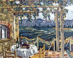 Toskana mozaik manzara