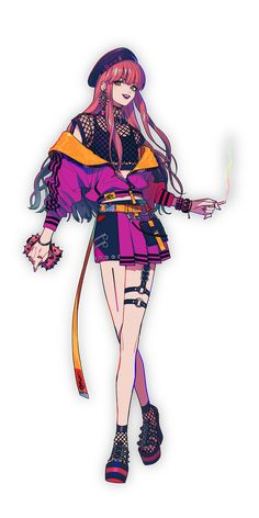 アン・フォークナー | CHARACTER | Paradox Live Female Character Design, Character Design Inspiration, Character Art, Manga Girl, Anime Art Girl, Chica Fantasy, Merian, Pretty Anime Girl, Fashion Design Drawings