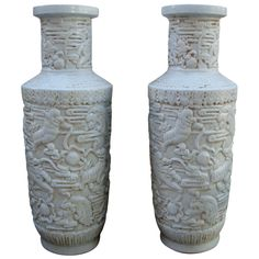 1stdibs - Very Chic Pair of Blanc de Chine Vases explore items from 1,700  global dealers at 1stdibs.com