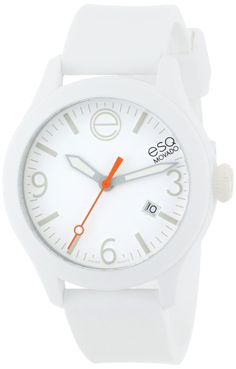 Women s watches  White watches for women ESQ Movado Unisex 07301431 ESQ ONE  Round Stainless Steel Watch 0eb672c71f64
