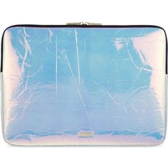 "SKINNY DIP Hyper 15"" laptop case ($37) ❤ liked on Polyvore featuring accessories, tech accessories, silver, laptop sleeve cases, laptop case and padded laptop case"