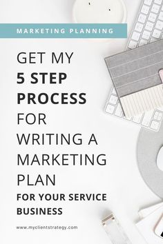 Need a marketing plan for your service business but not sure where to start? Get my 5 step process for writing a marketing plan so you can get clarity, move forward and grow your service business. #planning #plan #marketingplan #businessplanning #marketingprocess #servicebusiness Marketing Process, Online Marketing Tools, Marketing Budget, Small Business Marketing, Digital Marketing, Marketing Ideas, Affiliate Marketing, Media Marketing, Online Business Plan
