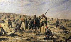 Winners, 1879 by Vasily Vereshchagin. Realism. battle painting
