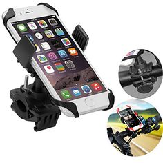 Bicycle Car Racks - Bike Mount No1seller Universal Cell Phone Bicycle Handlebar Baby Stroller Motorcycle Holder Cradle Mount for iPhone 7 7 plus 6 6S 6S plus 5S 5C 4S Samsung S7 S6 Note 4Nexus 5Huawei  -- Click image to review more details.