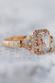18 Amazing Kirk Kara Engagement Rings ❤️ kirk kara engagement rings emerald cut diamond yellow gold unique ❤️ See more: http://www.weddingforward.com/kirk-kara-engagement-rings/ #weddingforward #wedding #bride