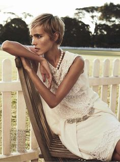 Isabel Lucas in Chanel Resort 2014 for Vogue Australia December issue