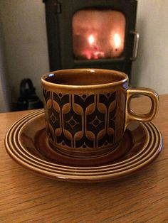 Your place to buy and sell all things handmade Hornsea Pottery, Autumnal, Black Pattern, Uk Shop, Cup And Saucer, 1970s, Cups, Ceramics, Tea