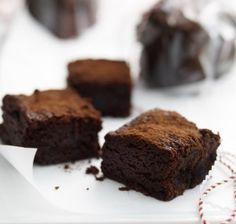 Indulgent chocolate and cherry brownies