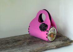 """I added """"Pink Bag"""" to an #inlinkz linkup!https://www.etsy.com/listing/129661196/felt-bag-pink-bag-decoupage-bag-pink?ref=shop_home_active_16"""