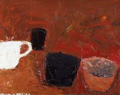 William Scott, Still Life, Oil on canvas, × 51 cm / 16 × 20 in, National Museum Cardiff Figure Painting, Painting & Drawing, Abstract Expressionism, Abstract Art, Abstract Paintings, Amy Sillman, Art Society, Still Life Art, Art Uk