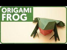 Origami Frog (Jun Maekawa) - YouTube