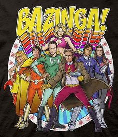 The characters on the Big Bang Theory all seem to be obsessed with various comic book superheroes so this piece of Big Bang Theory fan art seems like a perfect fit. The cast of the Big Bang Theory were all Read More . Big Bang Theory, The Big Bang Theroy, The Big Theory, Film Serie, Cultura Pop, Geek Chic, Batgirl, Teen Wolf, Bigbang