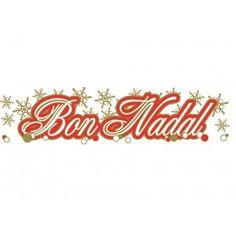Adhesivo Bon Nadal rojo 60 x 15 cm