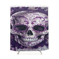 Skull Jingga Shower Curtain