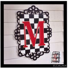 Custom Wood Initial Wall Plaque Sign by paintingbymichele on Etsy
