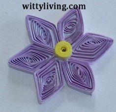 Diamond Flower Quilling Pattern design