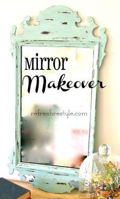 Mirror makeover http://refreshrestyle.com