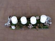 ♥ XL shabby Adventsboard mit 4 dicken Kerzen ♥