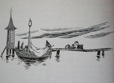 Just tämän tyyliset Toven piirrokset on parhaita! Moomin House, Moomin Valley, Tove Jansson, Black And White Illustration, Ink Art, Wonders Of The World, Printmaking, Tatoos, Artsy
