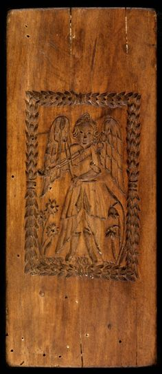 Original Press from the Lieb Family -- wonderfully detailed image of the wood carving, not the resin reproduction!