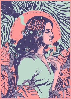LANA DEL REY - GIG POSTER. graphic design, graphic design poster, graphic design inspiration.