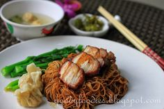 GoodyFoodies: Recipe: Dry Wonton Noodles (Konlo Wantan Mee) with Homemade Char Siu