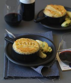 Beef, mushroom and Guinness pie - Gourmet Traveller