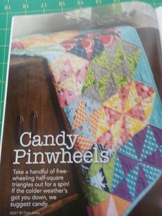 From Fon's & Porter Summer 2016 Triangle Quilts - Candy Pinwheels - Better picture of quilt