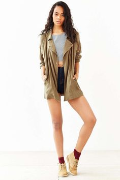 BDG Drapey Trench Coat - Urban Outfitters